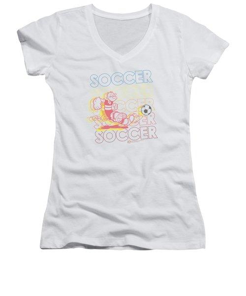 Popeye - Soccer Women's V-Neck T-Shirt