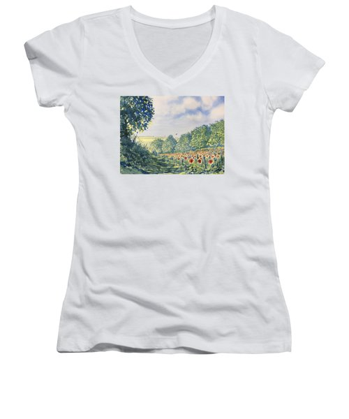 Poppies A'plenty Women's V-Neck