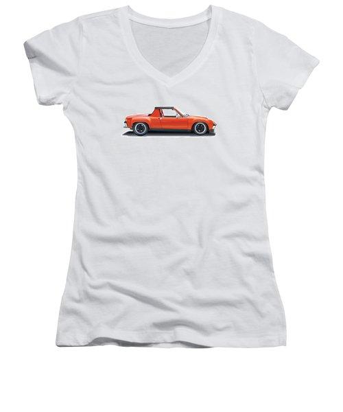 Porsche 914-6 Gt Women's V-Neck (Athletic Fit)