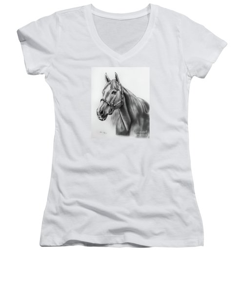 Portrait Of A Horse Women's V-Neck (Athletic Fit)