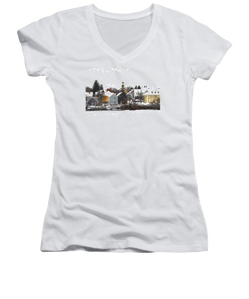 Portsmouth Waterfront Pwwc Women's V-Neck (Athletic Fit)