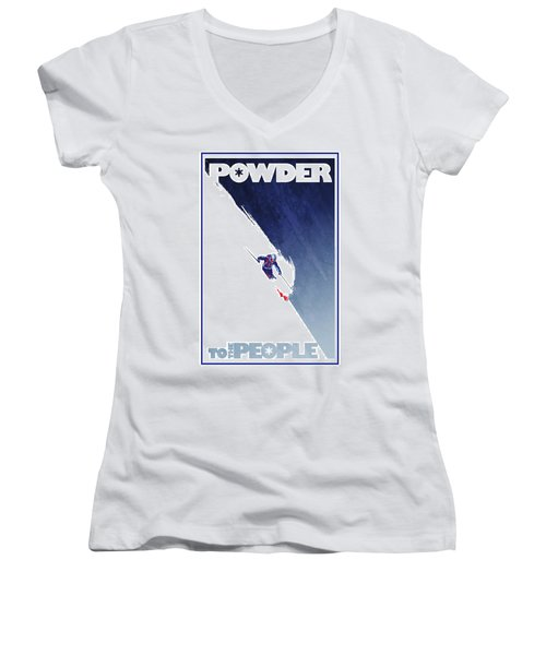Powder To The People Women's V-Neck (Athletic Fit)