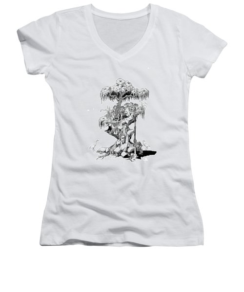 Ptactvo Women's V-Neck T-Shirt