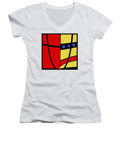 Primary Motivations 2 Women's V-Neck T-Shirt (Junior Cut) by Wendy J St Christopher