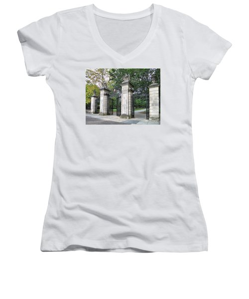 Princeton University Main Gate Women's V-Neck