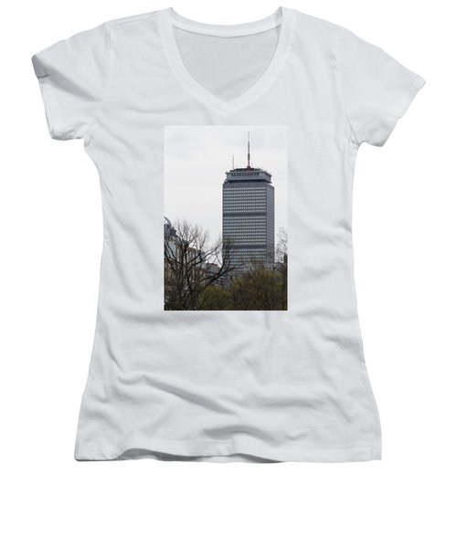 Prudential Tower Women's V-Neck T-Shirt