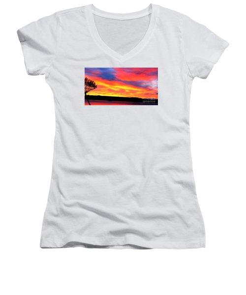 Puget Sound Colors Women's V-Neck (Athletic Fit)
