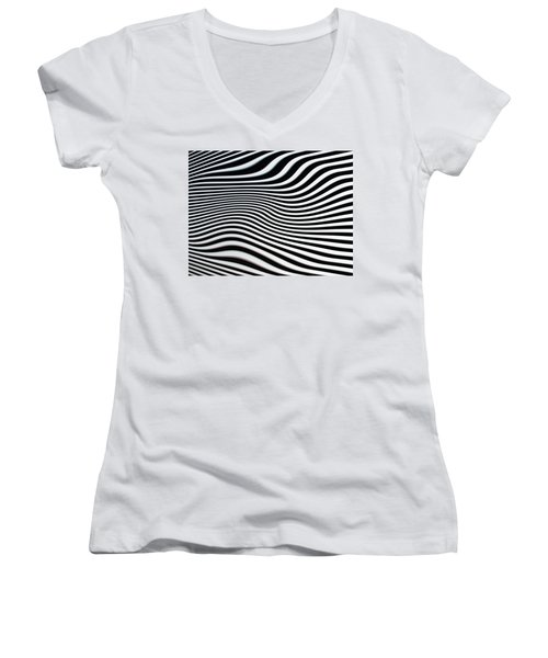 Women's V-Neck T-Shirt (Junior Cut) featuring the photograph Pulsating by Jacqi Elmslie