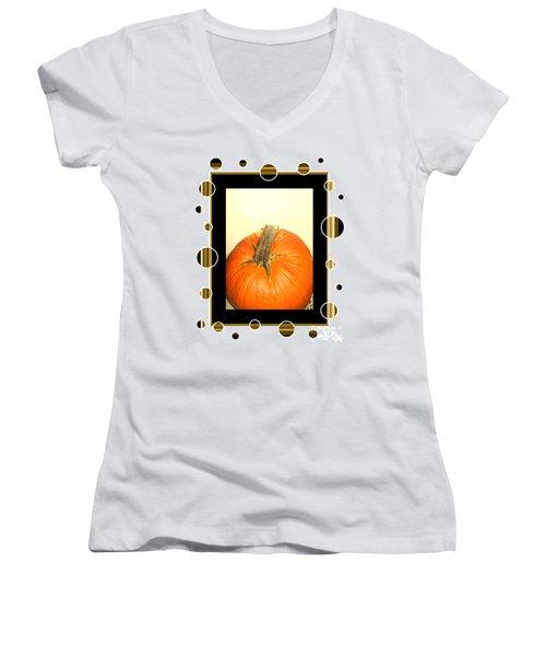 Pumpkin Card Women's V-Neck