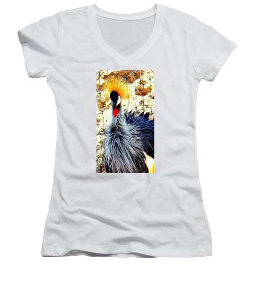 Women's V-Neck T-Shirt (Junior Cut) featuring the photograph Punk by Faith Williams