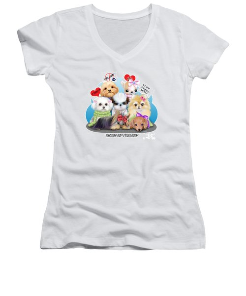 Puppies Manifesto Women's V-Neck