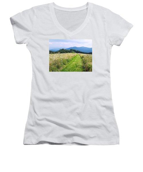 Purchase Knob Women's V-Neck T-Shirt (Junior Cut) by Melinda Fawver