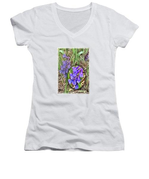 Purple Wildflowers Women's V-Neck