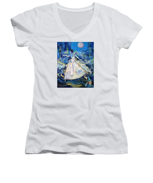 Pursuit Of Happiness Women's V-Neck T-Shirt (Junior Cut) by Anna  Duyunova