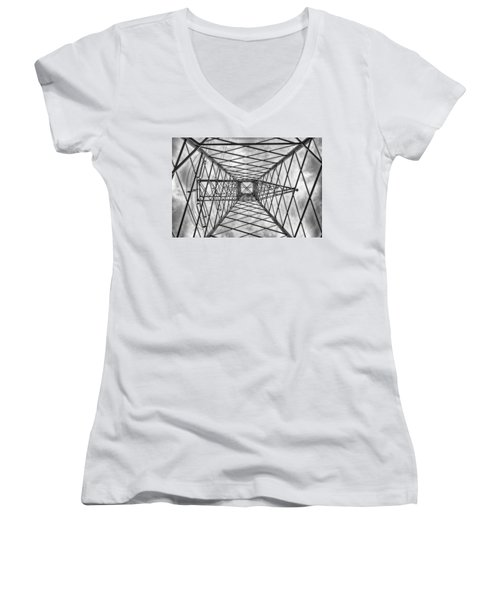 Women's V-Neck featuring the photograph Pylon by Howard Salmon