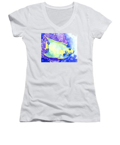 Queen Angelfish Women's V-Neck