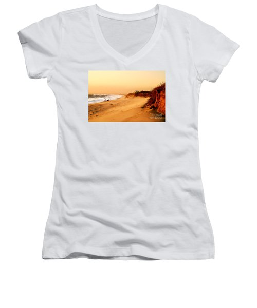 Quiet Summer Sunset Women's V-Neck (Athletic Fit)