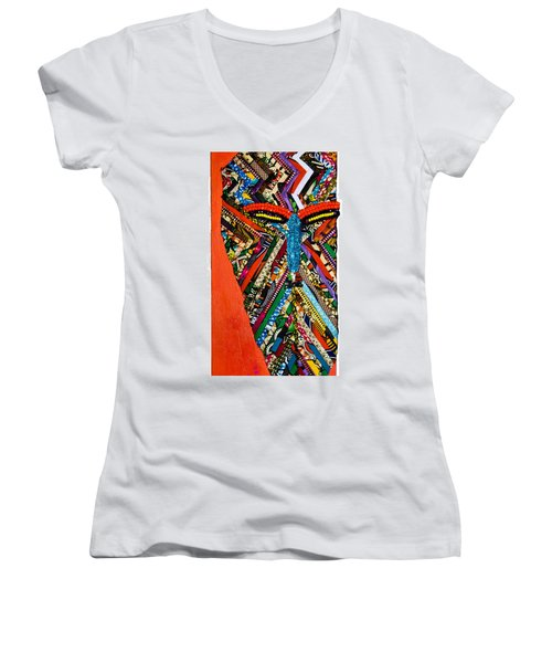 Quilted Warrior Women's V-Neck T-Shirt