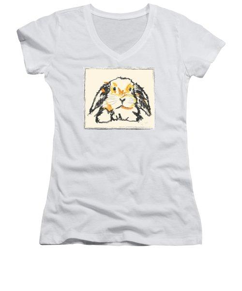 Rabbit Jon Women's V-Neck T-Shirt