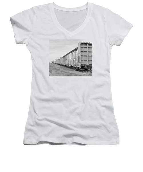 Rail Cars Women's V-Neck (Athletic Fit)