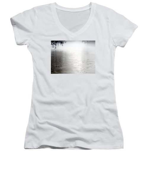 Rain On The Flint Women's V-Neck