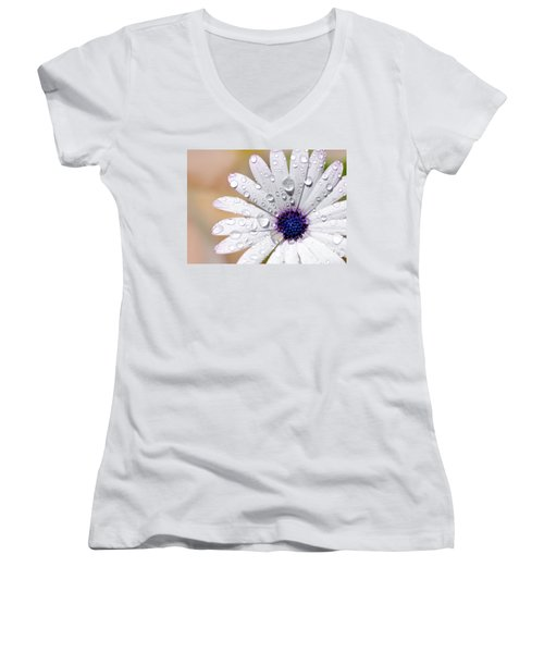 Rain Soaked Daisy Women's V-Neck