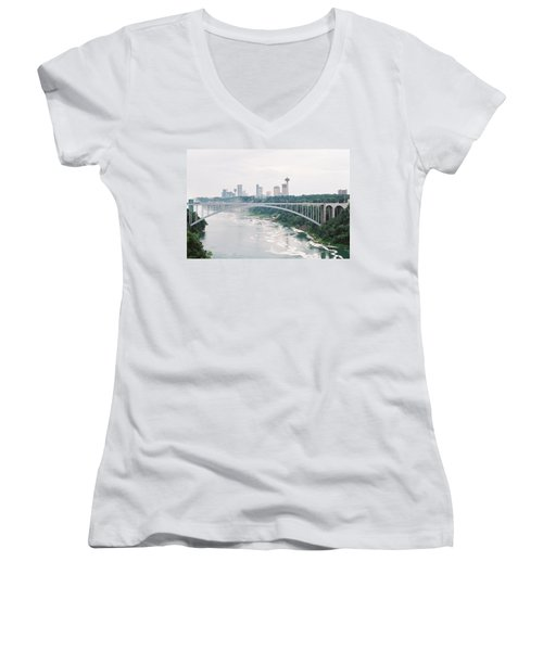 Rainbow Bridge Women's V-Neck T-Shirt