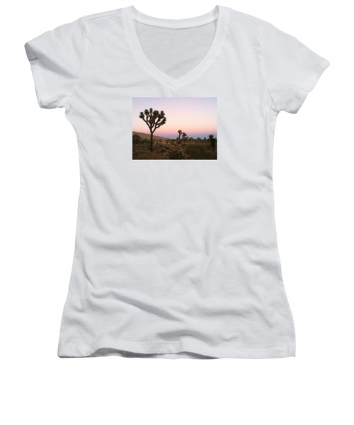 Women's V-Neck T-Shirt (Junior Cut) featuring the photograph Rainbow Morning by Angela J Wright