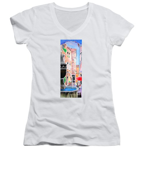 Raining In St-paul De Vence Women's V-Neck