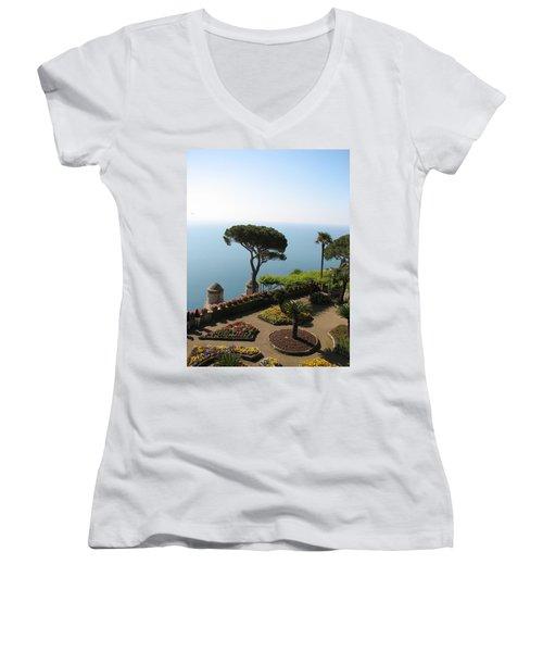 Women's V-Neck T-Shirt (Junior Cut) featuring the photograph Ravello by Carla Parris