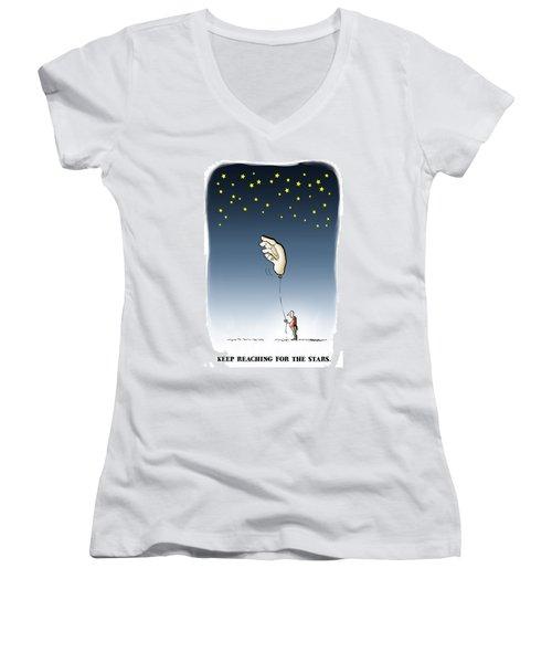 Reach For The Stars Women's V-Neck