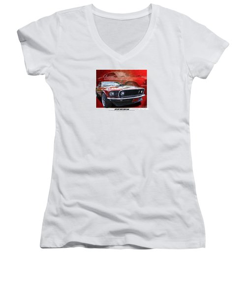 Boss Mustang Women's V-Neck (Athletic Fit)