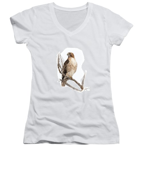Red Tail Hawk Women's V-Neck (Athletic Fit)