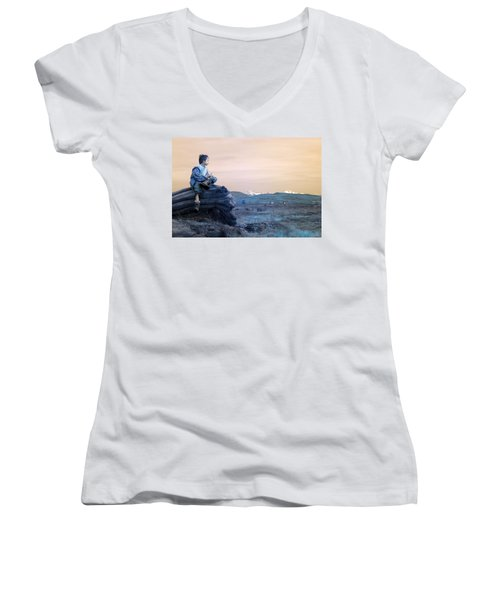 Reflecting Thoughts Women's V-Neck (Athletic Fit)