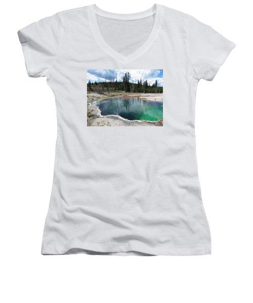 Reflection Women's V-Neck T-Shirt (Junior Cut) by Laurel Powell