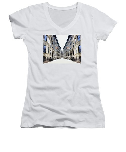 Reflections Of My Childhood Home Women's V-Neck (Athletic Fit)