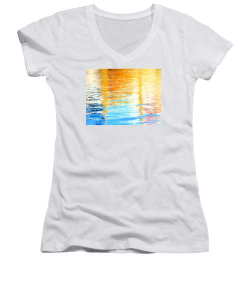Reflections Of The Setting Sun Women's V-Neck (Athletic Fit)
