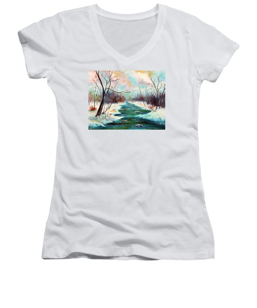 Reflections Of Worship Women's V-Neck T-Shirt