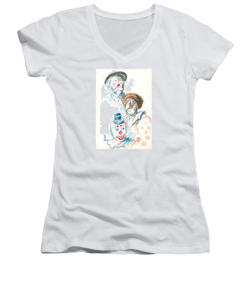 Remember The Clowns Women's V-Neck T-Shirt