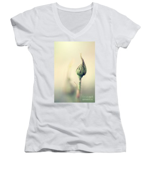 Remember Women's V-Neck T-Shirt (Junior Cut) by Trish Mistric