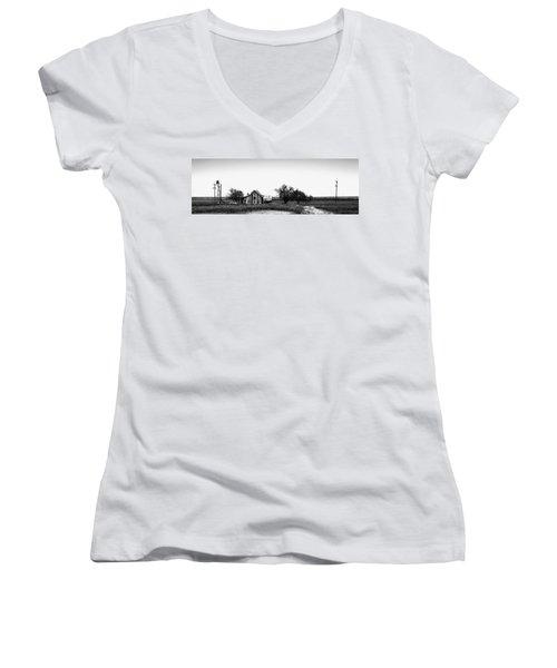 Remnants Of The Dust Bowl Women's V-Neck T-Shirt