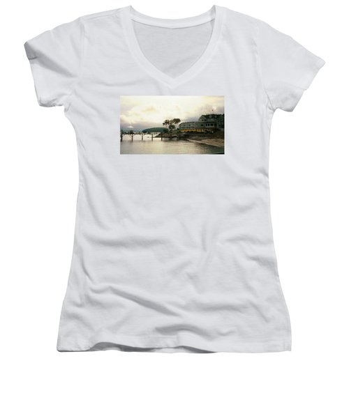 Resort In Bar Harbor Women's V-Neck T-Shirt