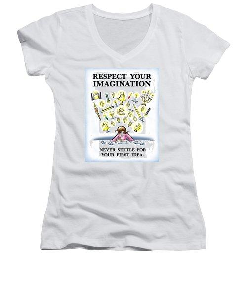 Respect Your Imagination Women's V-Neck