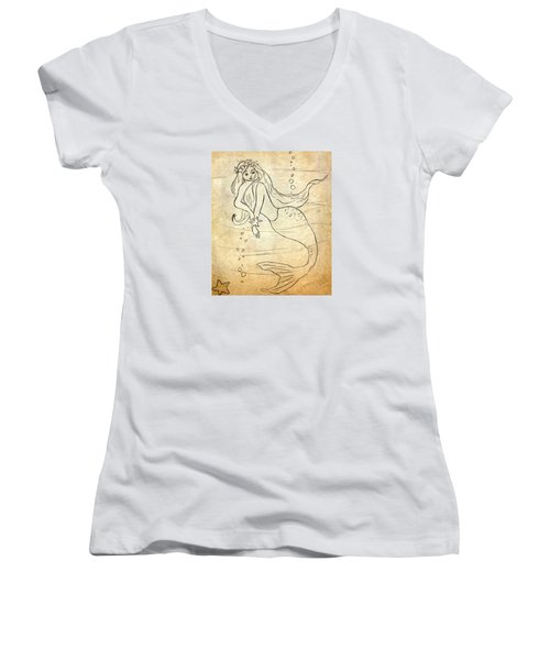 Retro Mermaid Women's V-Neck T-Shirt