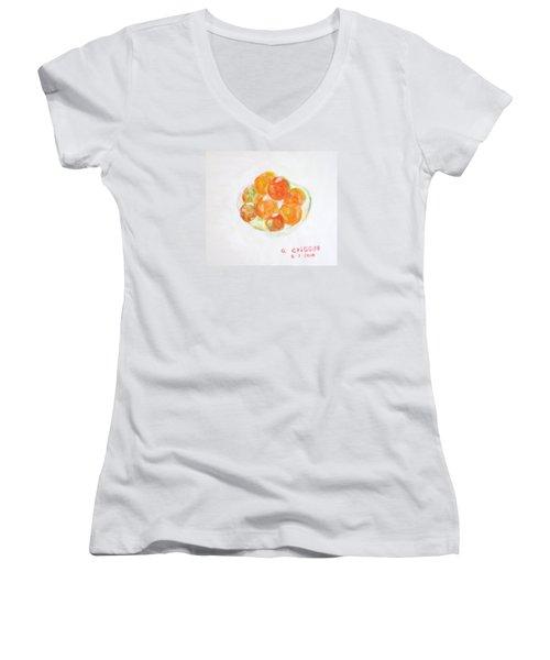Ripening Tomatoes Women's V-Neck T-Shirt