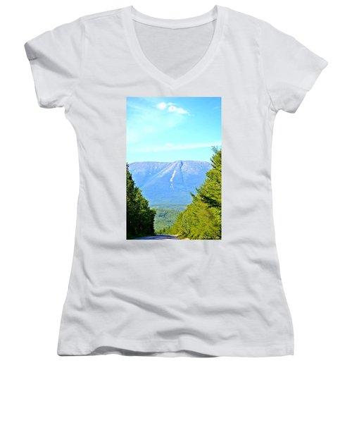 Road To Katahdin Women's V-Neck T-Shirt