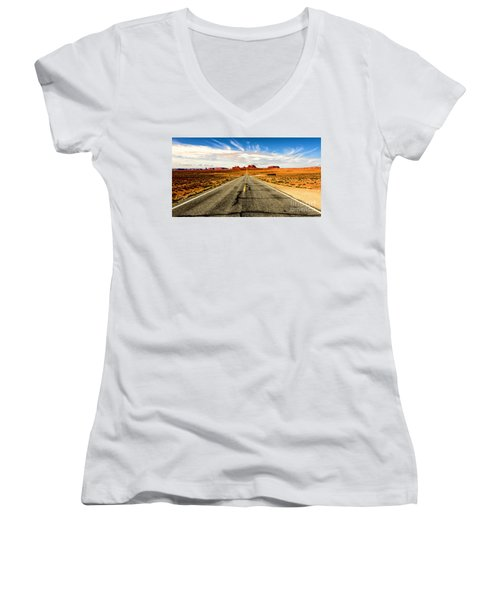 Road To Navajo Women's V-Neck (Athletic Fit)