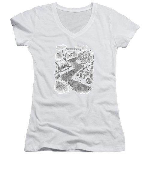 Roadside Ambush Women's V-Neck T-Shirt