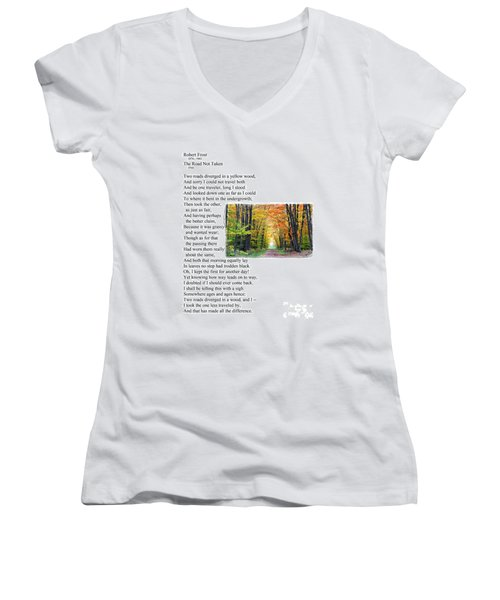 Robert Frost - The Road Not Taken Women's V-Neck (Athletic Fit)