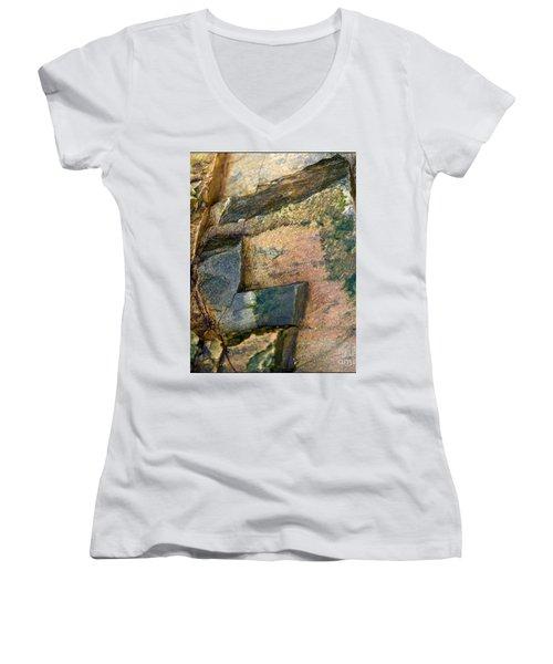 Women's V-Neck T-Shirt (Junior Cut) featuring the photograph Rock On by Liz  Alderdice